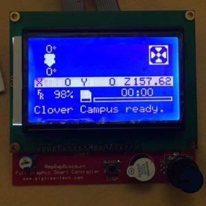 foto del pannello di controllo stampante 3d