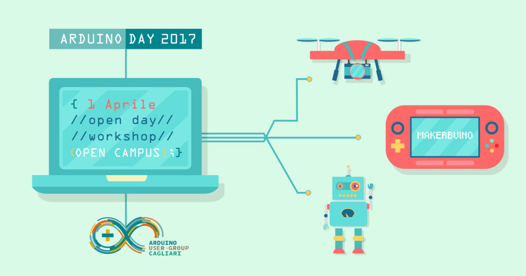 Arduino Day 2017 in laboratorio augc